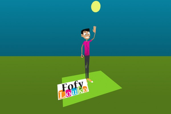 Fofylouko 3d model and Papervision implementation